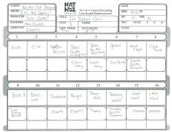 """""""I'm Bobby's Girl"""" Track Sheet"""