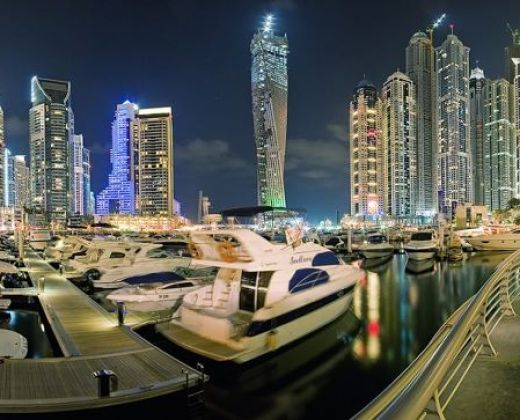 Dubai-Marina-Bay-at-Night