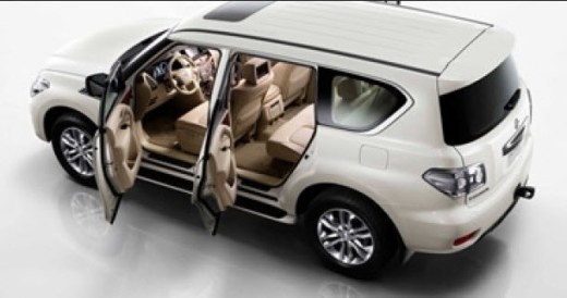 Nissan-Patrol-white color interior view picture