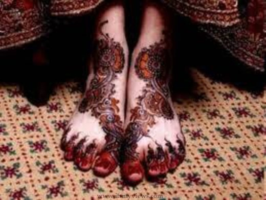 dulhan-mehndi-style-for-foot-2015 - 2016
