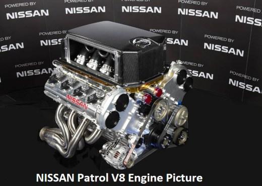 nissan patrol 2013 V8 engine picture