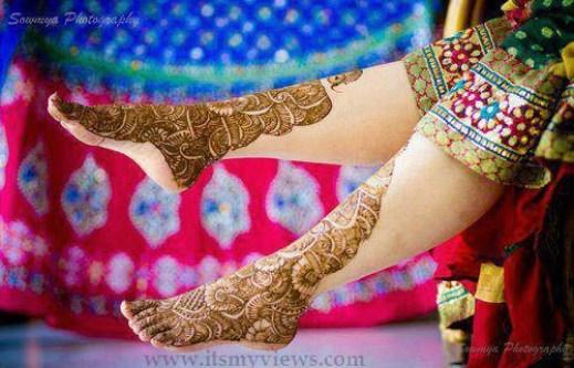 stylish-indian-mehndi-design-for-bridal-foot-2015 - 2016