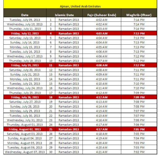 Latest-Ramadan-calendar-2013-Ajman-City-UAE-sehri iftar-timing