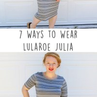 LuLaRoe Julia Dress Styled 7 Ways