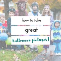 how to take pictures of kids on Halloween
