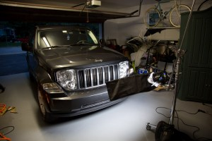 Behind the scenes of the Jeep Liberty shoot