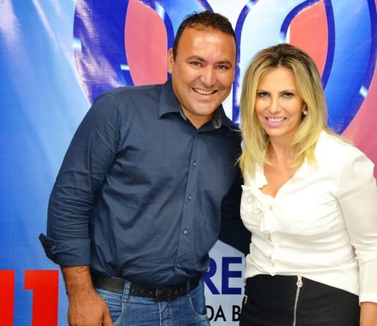 Vereador Sérgio Pinheiro e a vice-governadora Cida Borghetti. Foto: Blog Ivan de Colombo