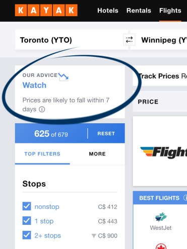 Kayak.com Screenshot - Tips and Tricks to Find Cheap Flights :: I've Been Bit! A Travel Blog
