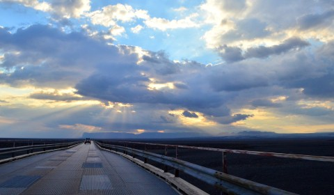 ...as we drove towards a gorgeous sunset.