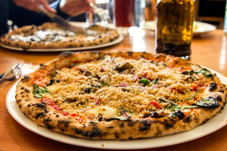 I've Been Bit! A Travel Blog - Grey County Autumn Adventures Bruce Wine Bar Veggie Pizza
