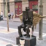 Barcellona, artista di strada