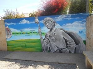 murales pellegrino santiago a Padron