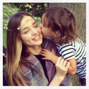 Miranda Kerr and her son Flynn