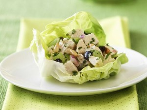 Leftover Chicken Lettuce Cups