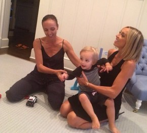 Guliana Rancic with her son Duke and his aunty