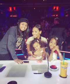 Mel B on America's Got Talent with her 3 daughters Phoenix, 15, Angel, 7, and Madison, 2
