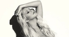 "Christina Aguilera ""stripped"" for nude bump shoot."