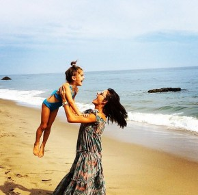 Alessandra Ambrosio with her daughter Anja