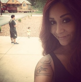 Snooki with her fiance and son Lorenzo