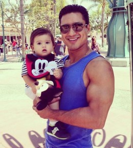 Mario Lopez and his son Dominic