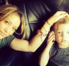 Hilary Duff and her son Luca