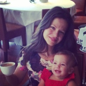 Tammin Sursok and daughter Phoenix.