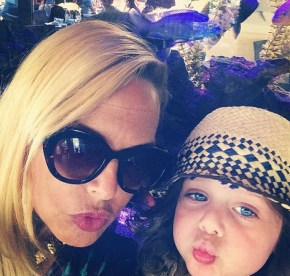 Rachel Zoe with her son Skyler