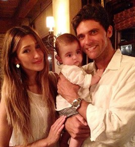 Mark Philippoussis with his wife Silvana and their son Nicholas