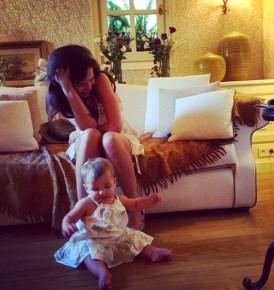 Tammin Sursok and her daughter Phoenix