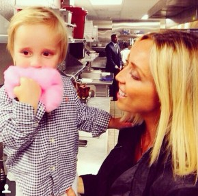 Giuliana Ranic and her son Duke