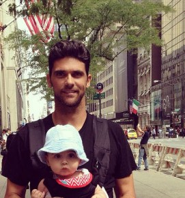 Mark Philippoussis and his son Nicholas