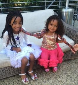 Mel B's girls Angel and Madison