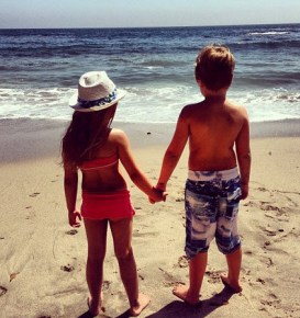 Tori Spelling's children Liam and Stella