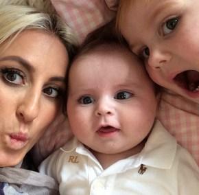 Roxy Jacenko with her children Hunter and Pixie