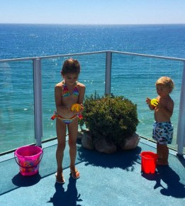 Alessandra Ambrosio's children Anja and Noah
