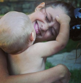 Teresa Palmer with her son Bodhi