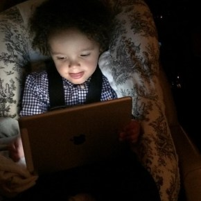 Mariah Carey's son Moroccan is getting in on some iPad action