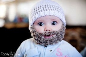 Made you look: Yep, that baby has a beard.