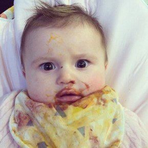 Bec Judd's daughter Billie loves her solids