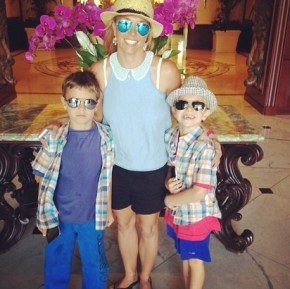 Britney Spears with her sons Jayden and Sean