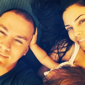 Channing Tatum with his wife Jenna and daughter Everly