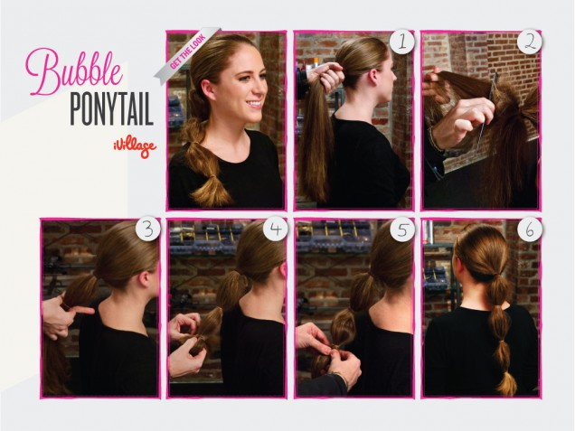DIY Bubble Ponytail