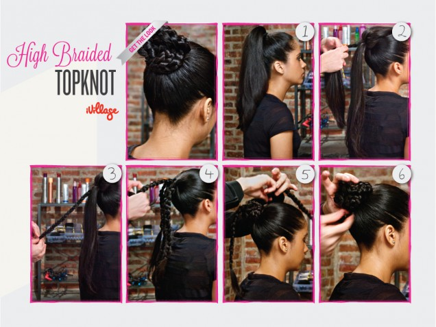 DIY Braided Topknot