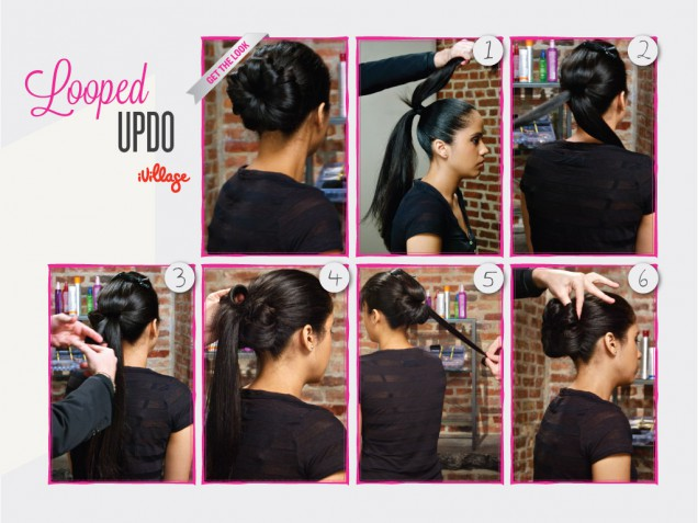 DIY Looped Updo