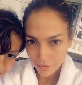 Jennifer Lopez with her son Maximilian, 6