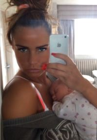 Katie Price and her daughter Bunny