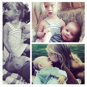 Jessica Simpson's daughter Maxi and  her friend Jack