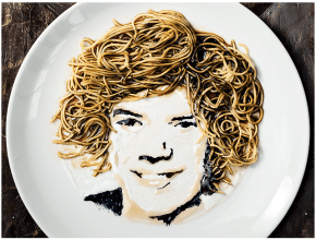 These celebrity portraits are incredible, and delicious
