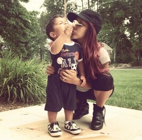 Snooki and her little son Lorenzo