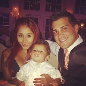 Snooki with her partner Jionni and son Lorenzo